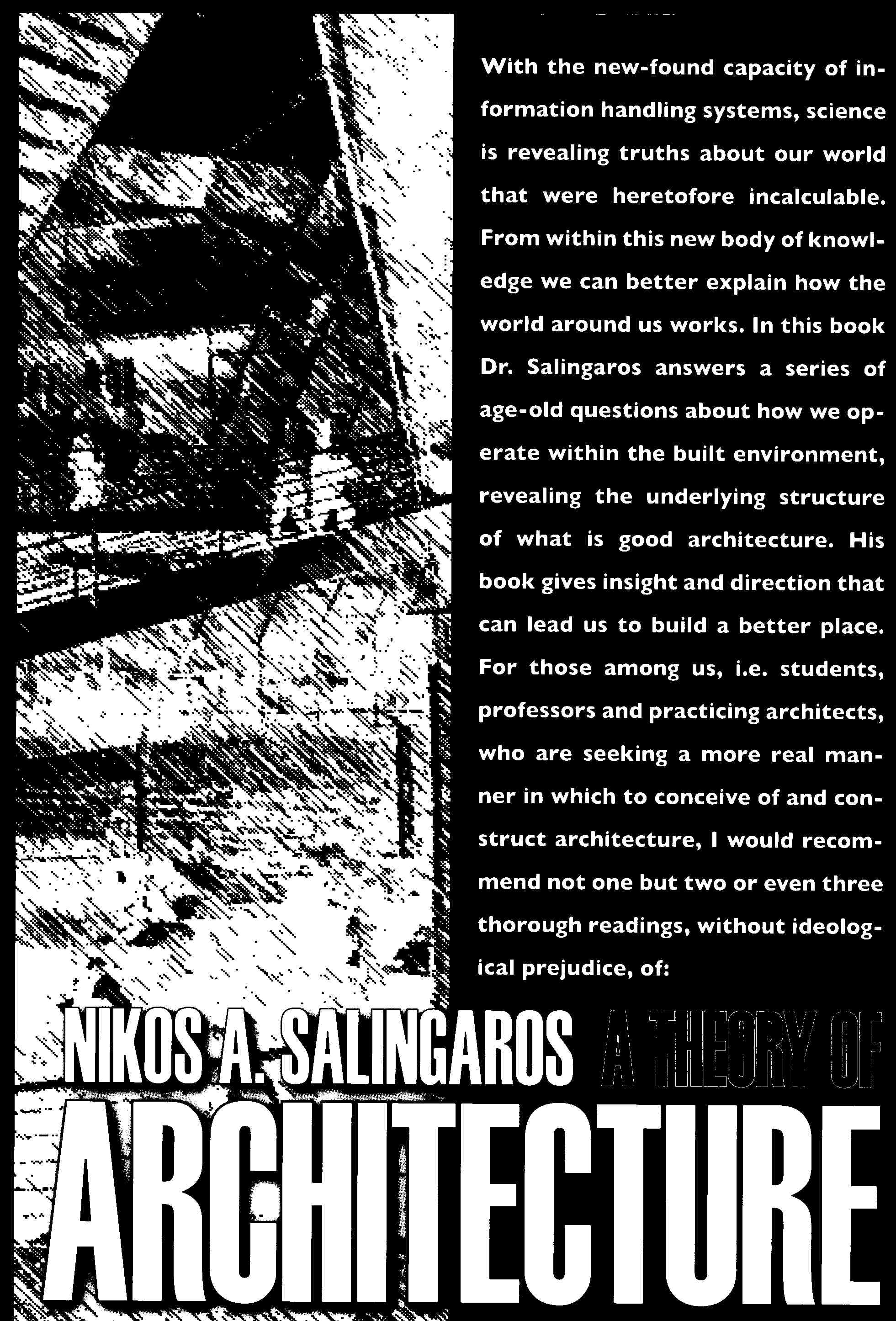 A THEORY OF ARCHITECTURE By Nikos Salingaros